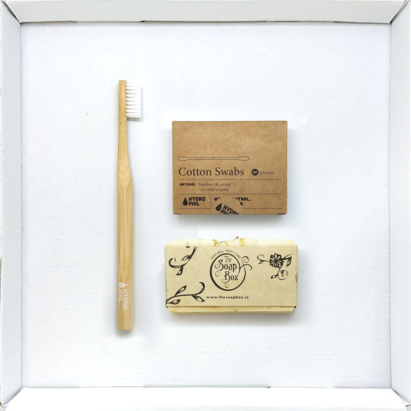 Natural Biodegradable Eco Friendly Mini Bathroom Supply Box